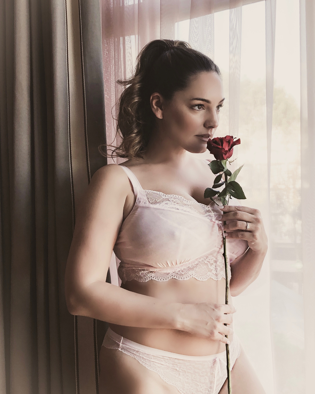 Kelly Brook huge breasts in Valentines Day Lingerie photoshoot (2018)