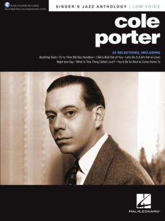 Cole Porter Singer's Jazz Anthology Low Voice