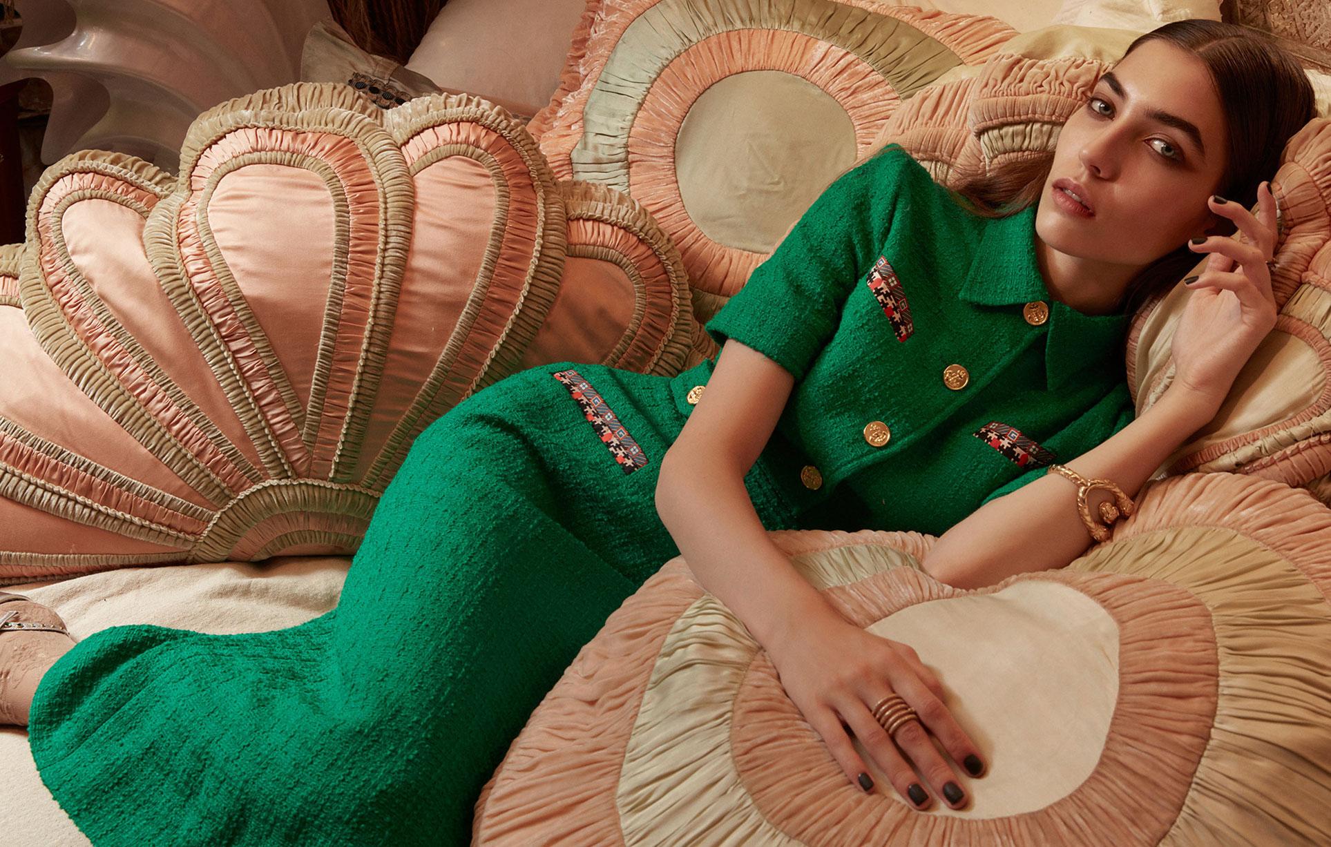 Елена Карьере в модной одежде Gucci, коллекция осень-зима 2019/20 / фото 12