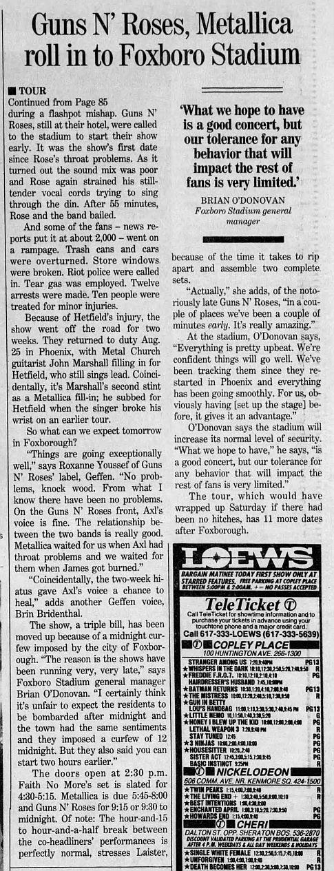 1992.09.11 - Foxboro Stadium, Foxboro, USA FRKZknTL_o