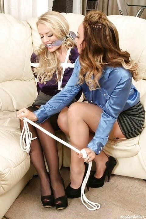 Latex bondage gagged-5291
