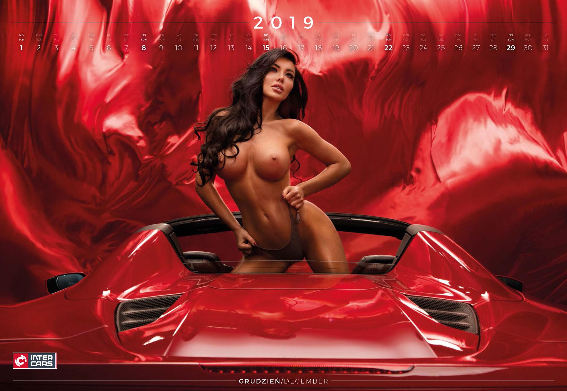 декабрь - эротический календарь 2019 Inter Cars SA / польский дистрибьютор автомобилей, сопутствующих товаров и запчастей