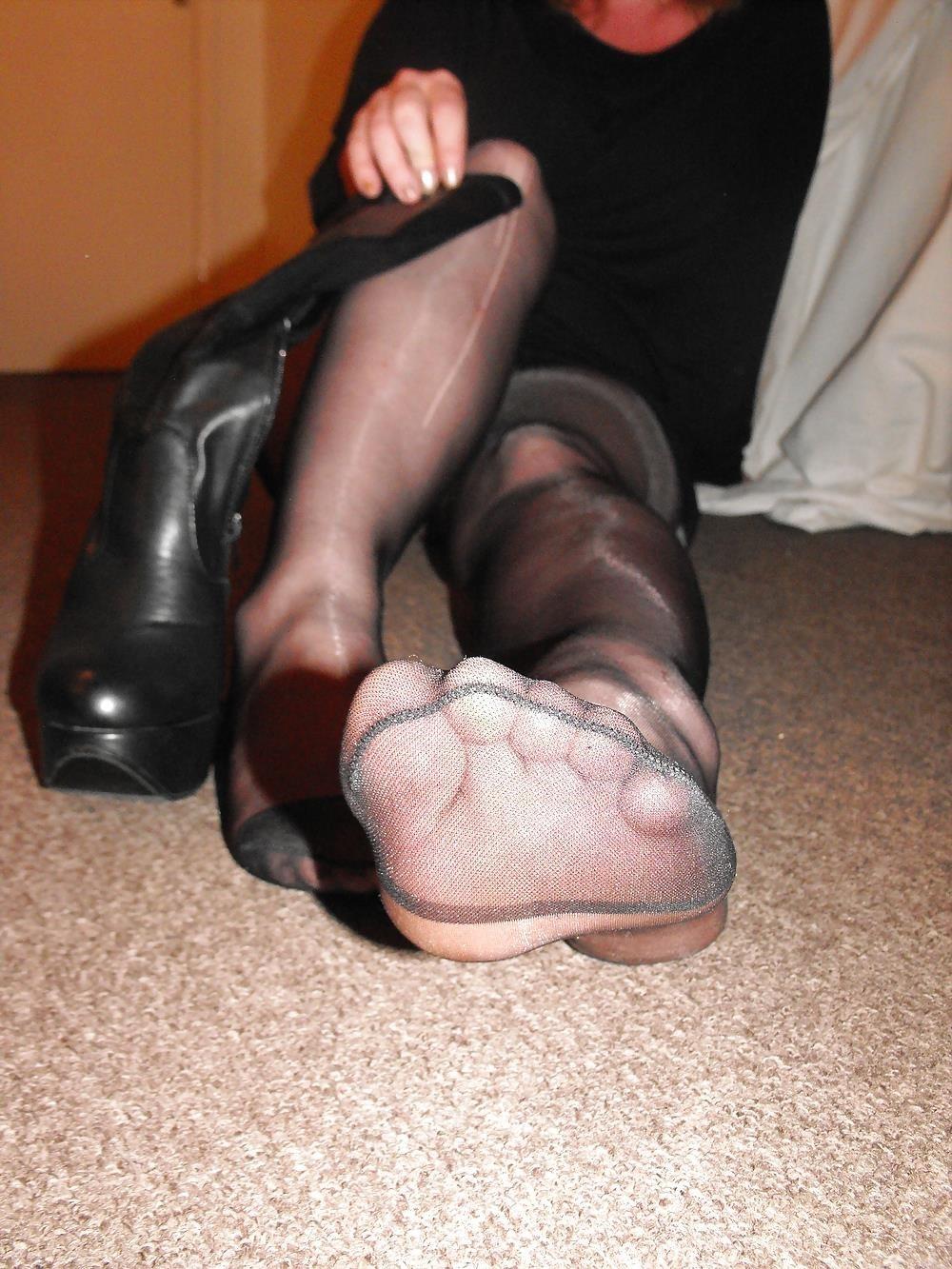 Black knee high combat boots-4074
