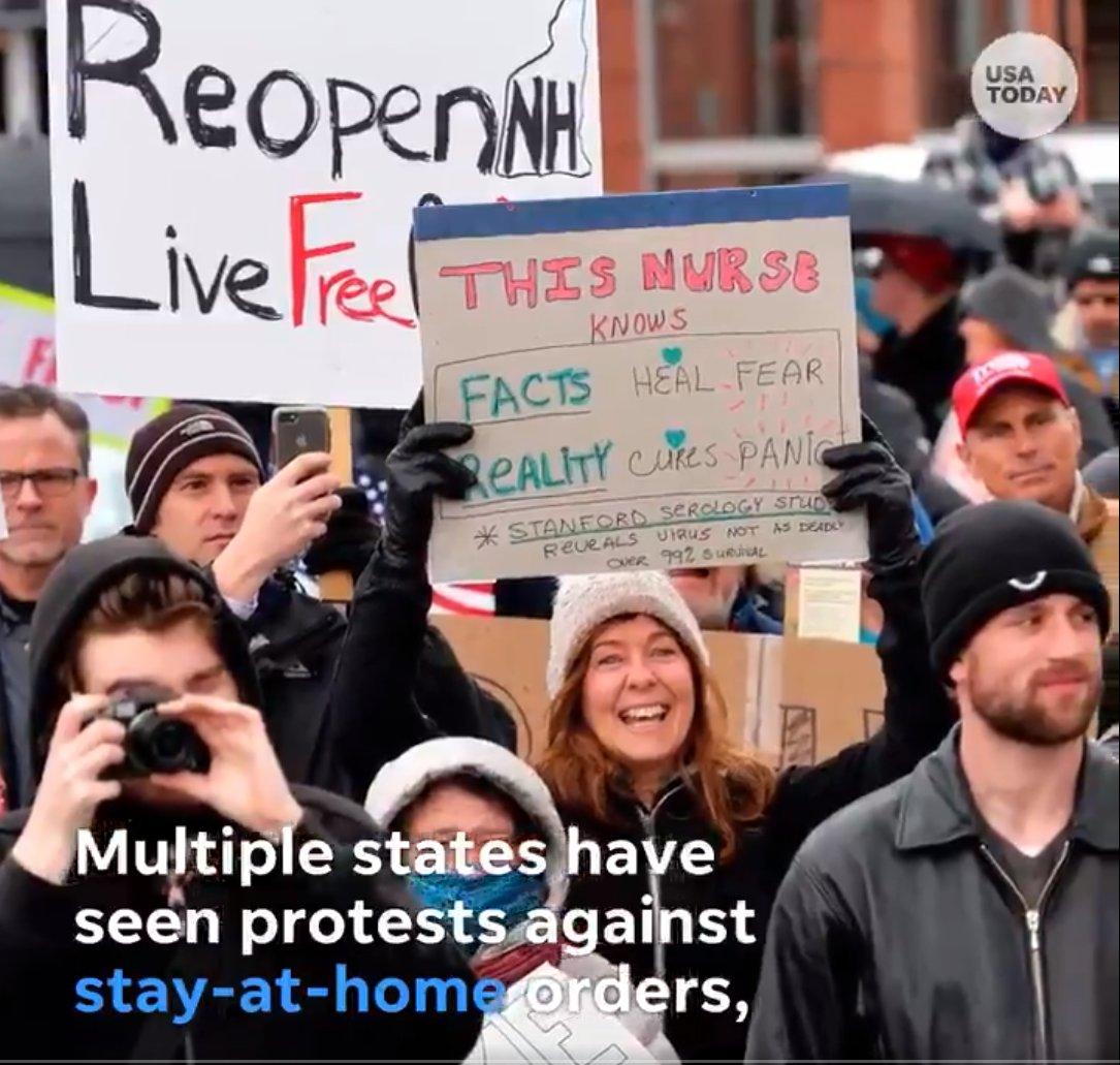 W USA odbywają się ogromne protesty przeciwko obostrzeniom i nielegalnym ograniczeniom wolności, wprowadzonym pod pretekstem pandemii