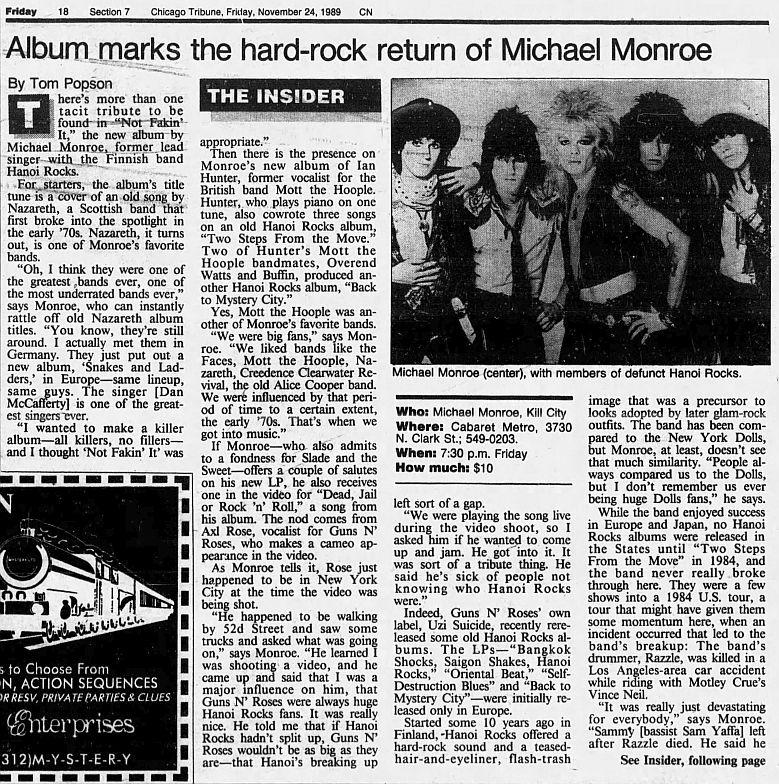1989.11.24 - Chicago Tribune - Album marks the hard-rock return of Michael Monroe (Axl) WA7x6gCQ_o
