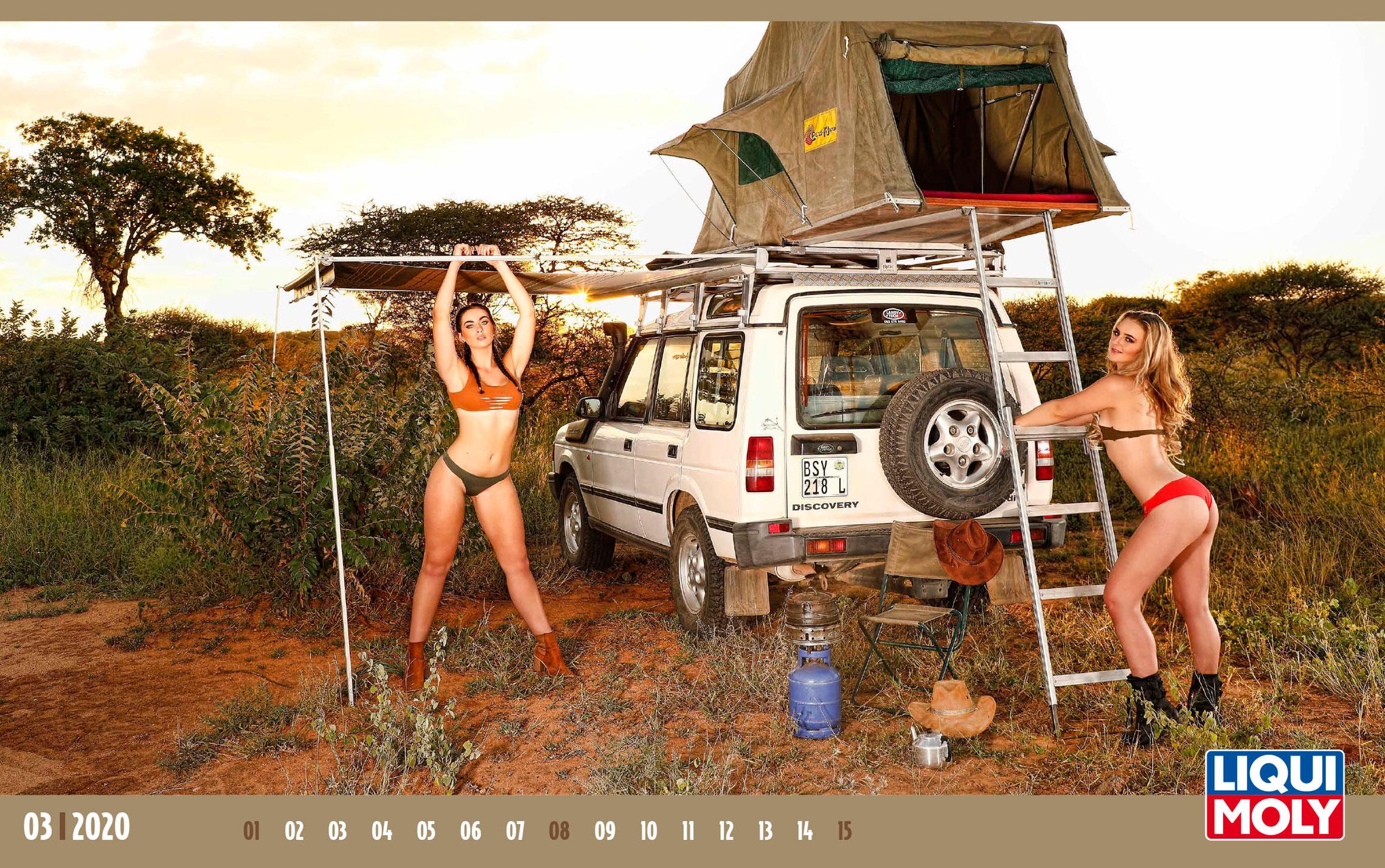 Календарь с девушками автоконцерна Liqui Moly, 2020 год / март-1