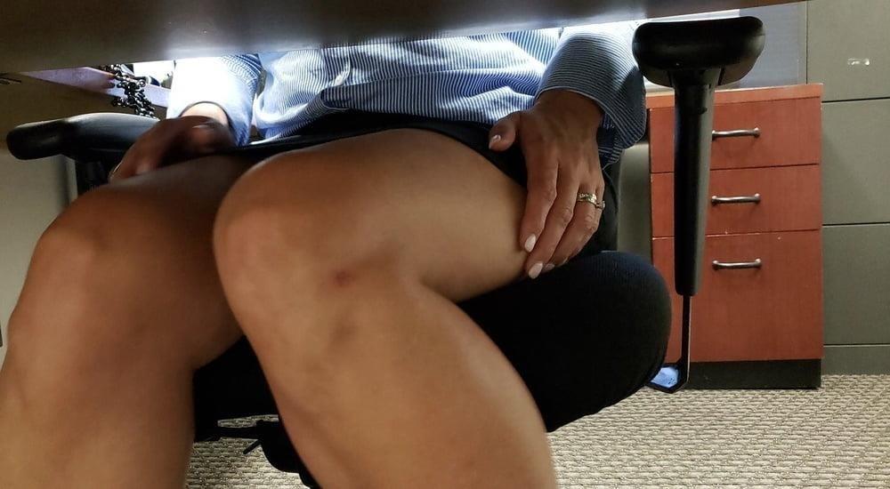 Under the desk foot worship-3247
