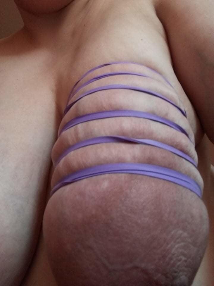 Self breast bondage-8723