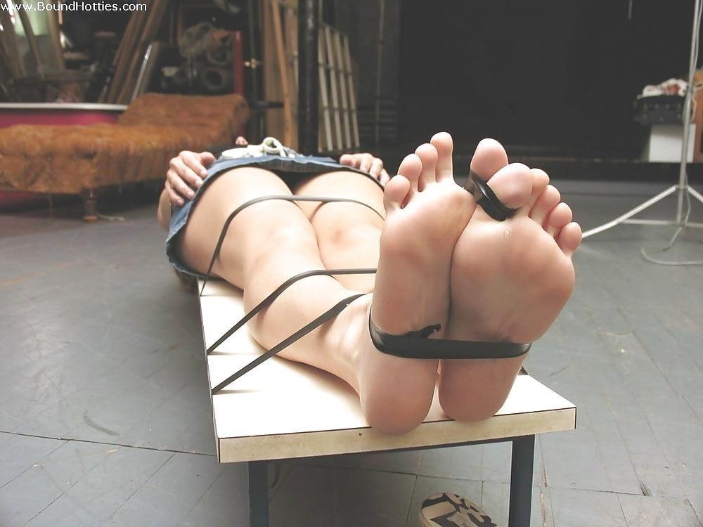 Bondage tickle feet-2895
