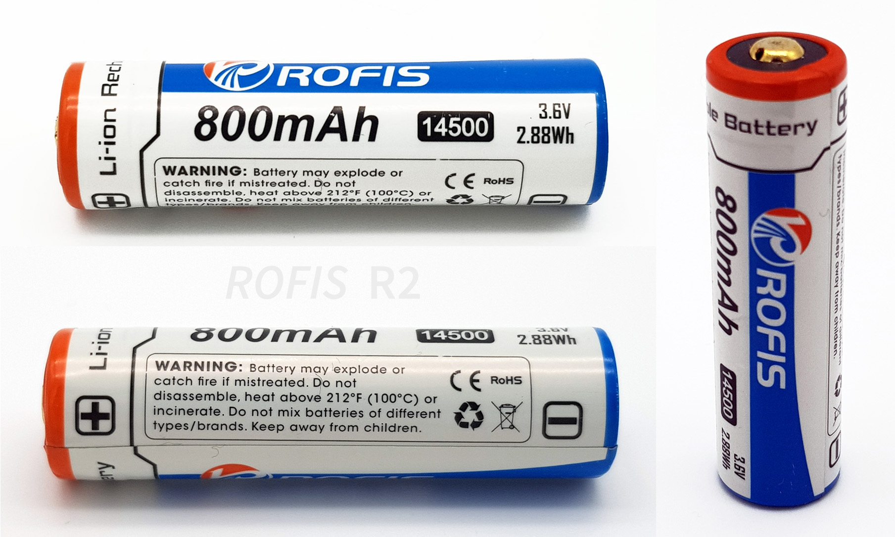 Review Rofis R2 1xaa 1x 14500 Baterai Batre Recharge Aa A2 37v The Battery Supplied With Is A 800mah Li Ion