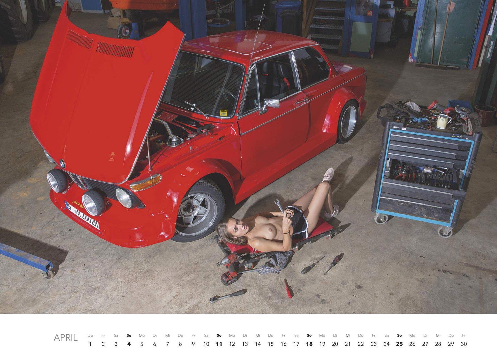 Эротический авто-календарь -Отвертка мечты 2021- / апрель