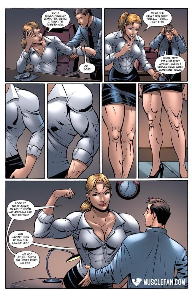 Female muscle big clit-4778