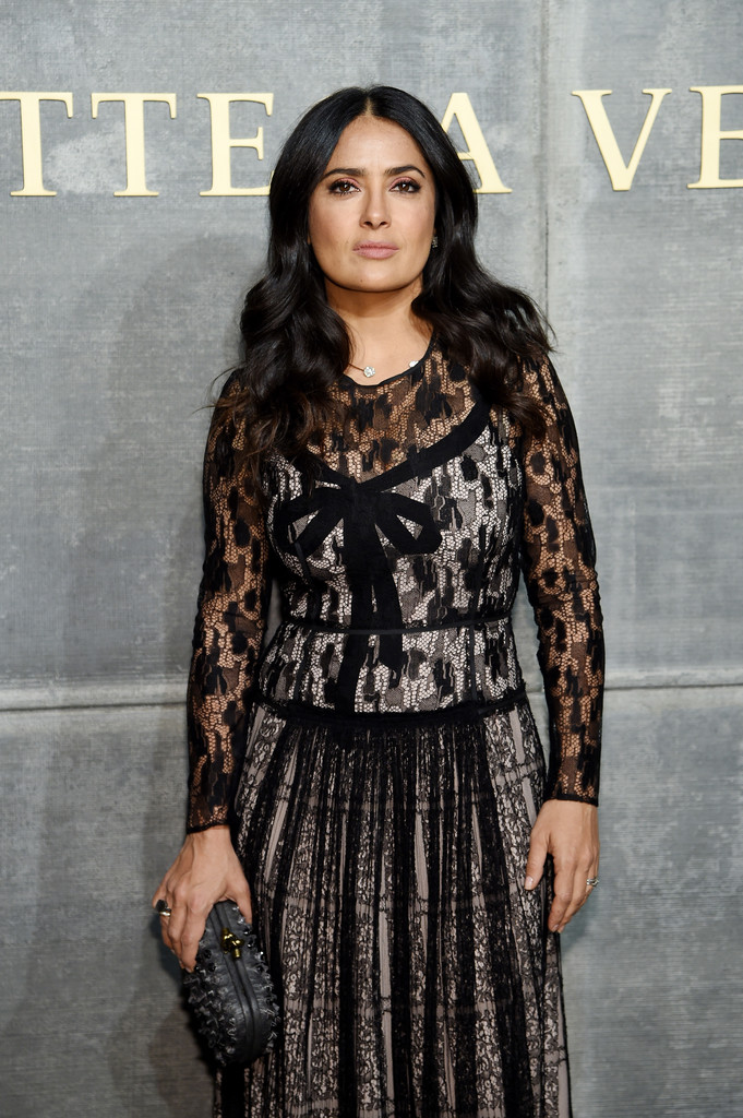 Salma Hayek – Bottega Veneta show during New York Fashion Week – 2/9/18