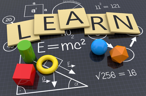 Learn concept over chalk board with emc
