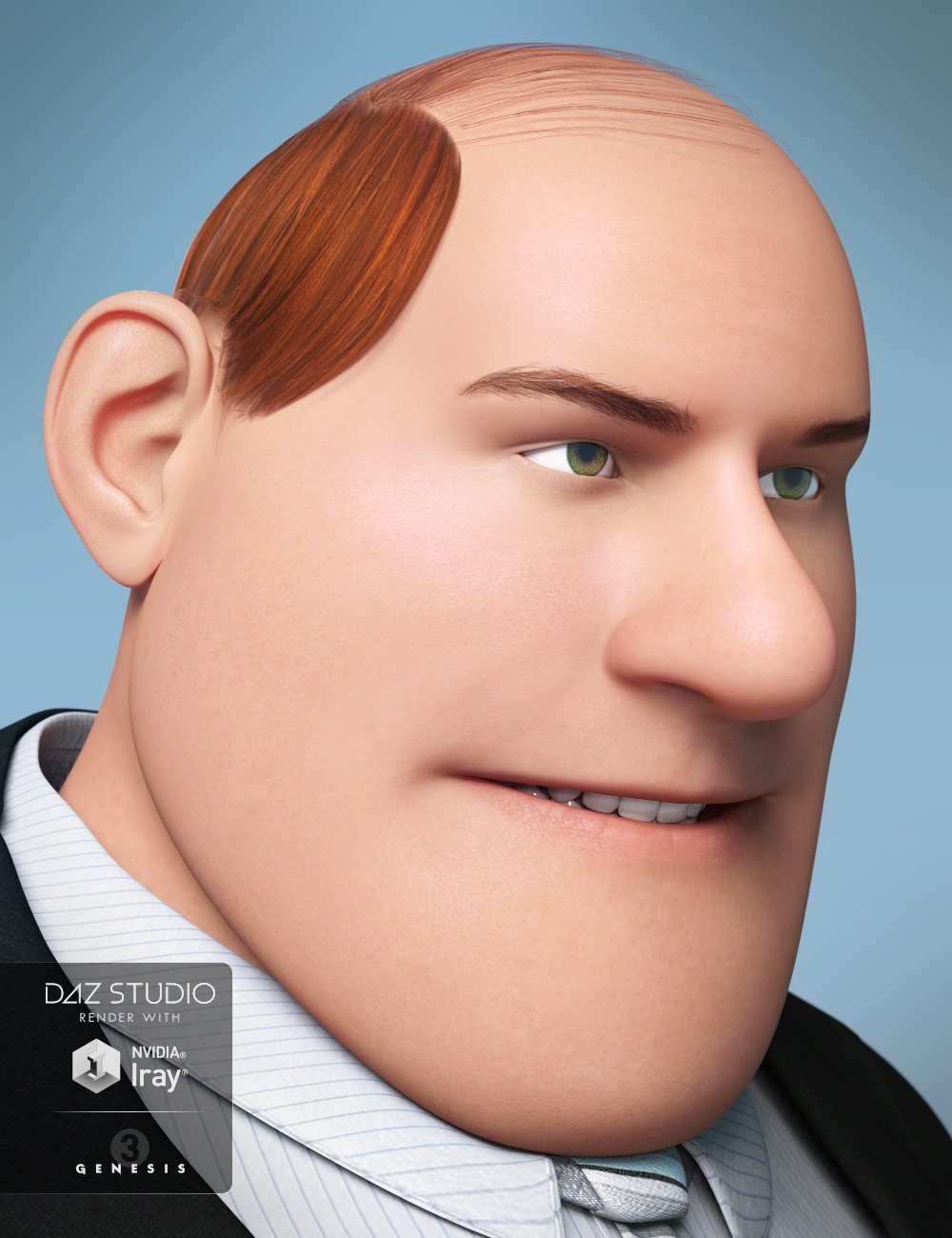 Toon Comb Over Hair