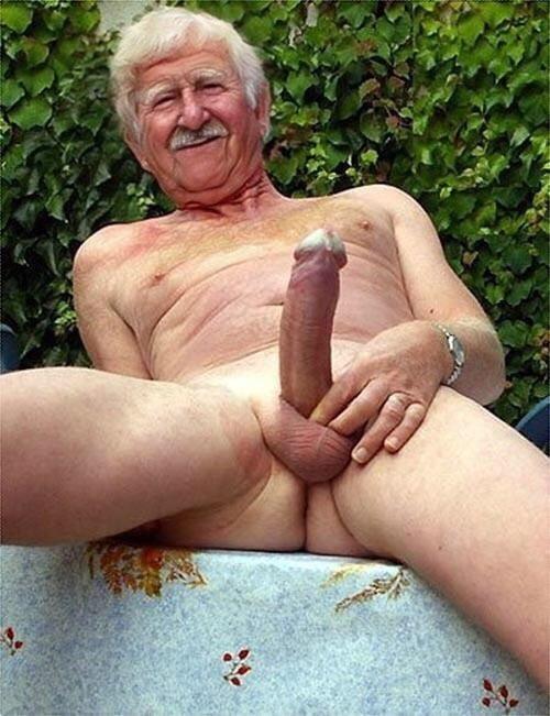 Old man footjob-7153