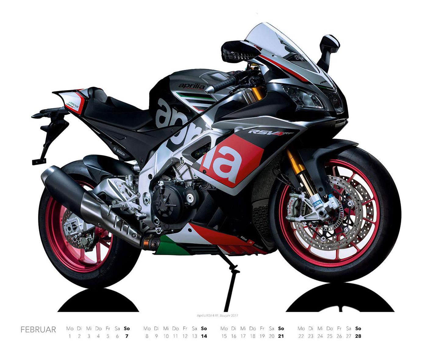 Календарь с крутыми мотоциклами на 2021 год / февраль