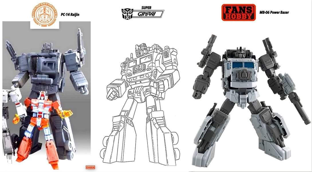 [KFC Toys] Produit Tiers - PC-14 Raijin + PC-15 Grand Raijin + P-16 Raiju - aka Ginrai (Powermaster Optimus) + Remorque de Ginrai + Godbomber = God Ginrai (TF Masterforce) Y37XfLNB_o