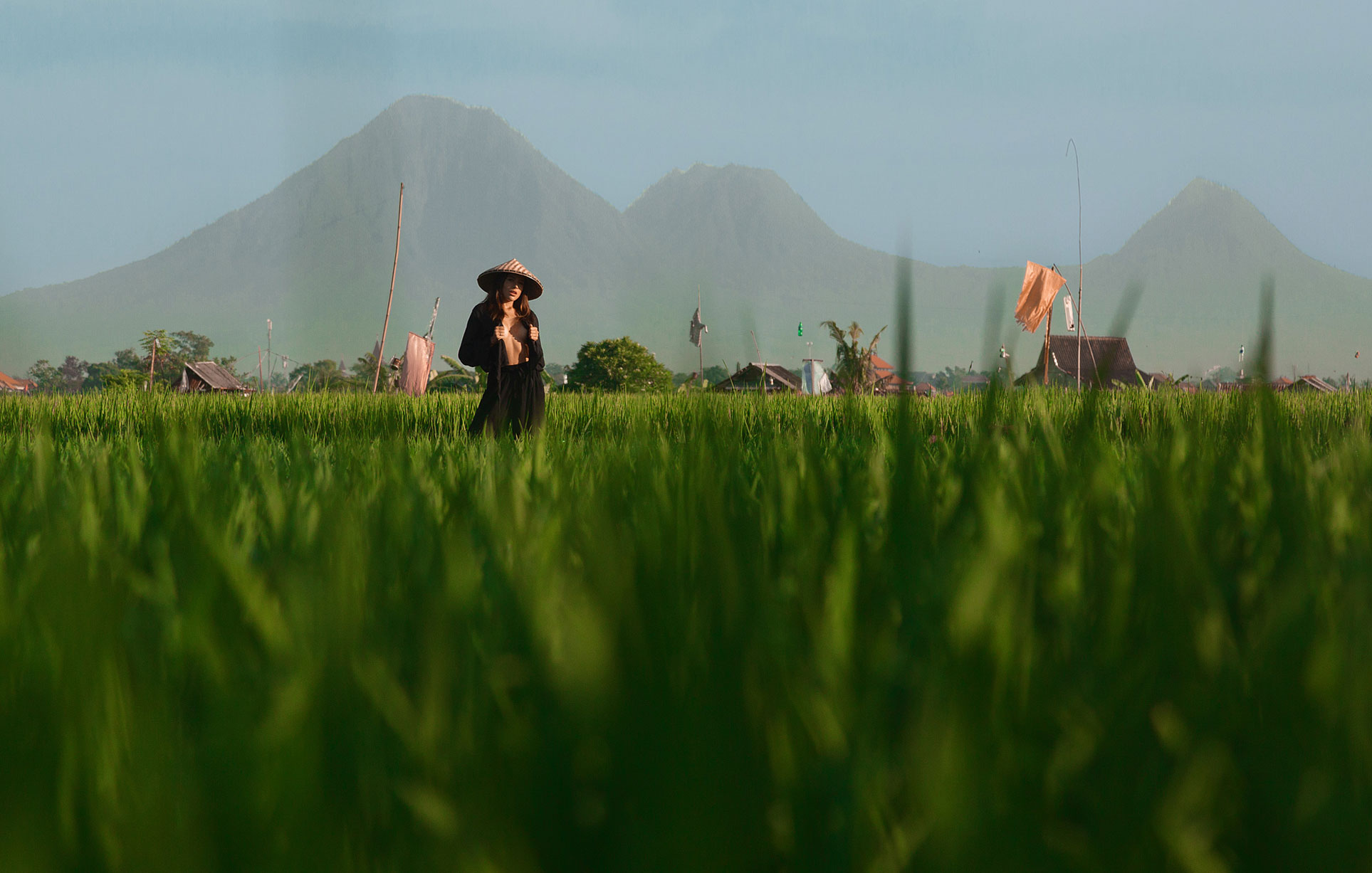 Ксения Мио во вьетнамском поле, фотограф Светлана Никонова / фото 02