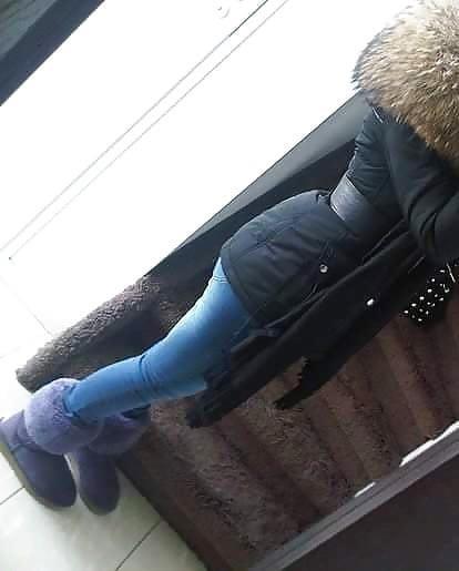 Jean jacket with brown fur-5935