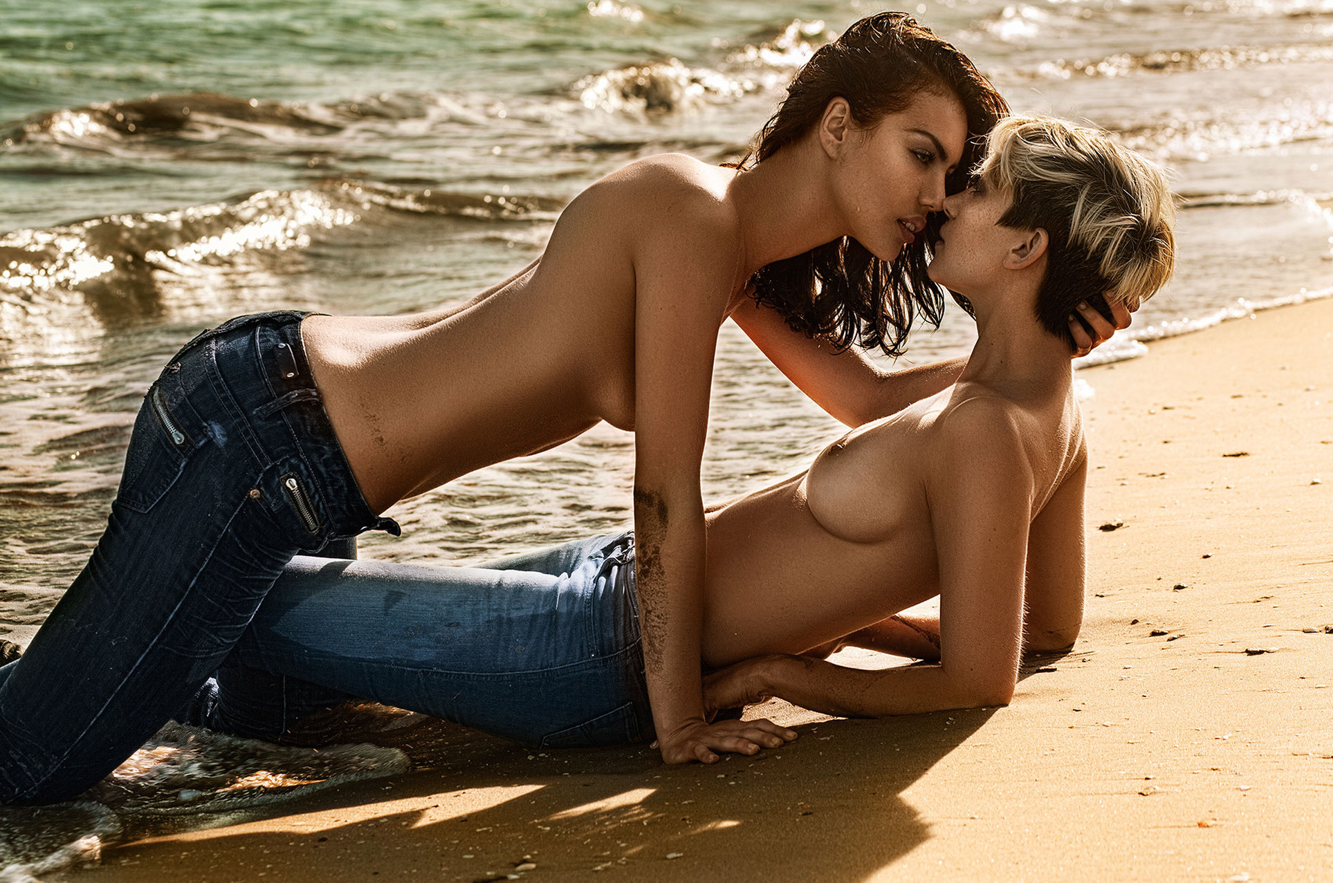 Alicia Tadrist and Emilie Dcty naked by Stefan Bourson