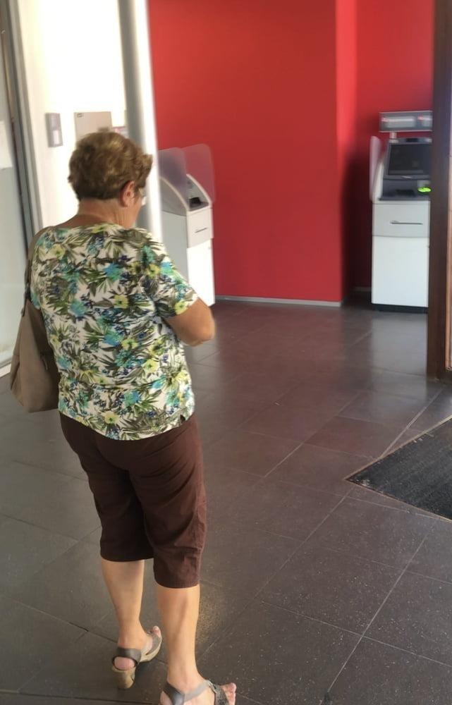 Granny feet in nylons-7240