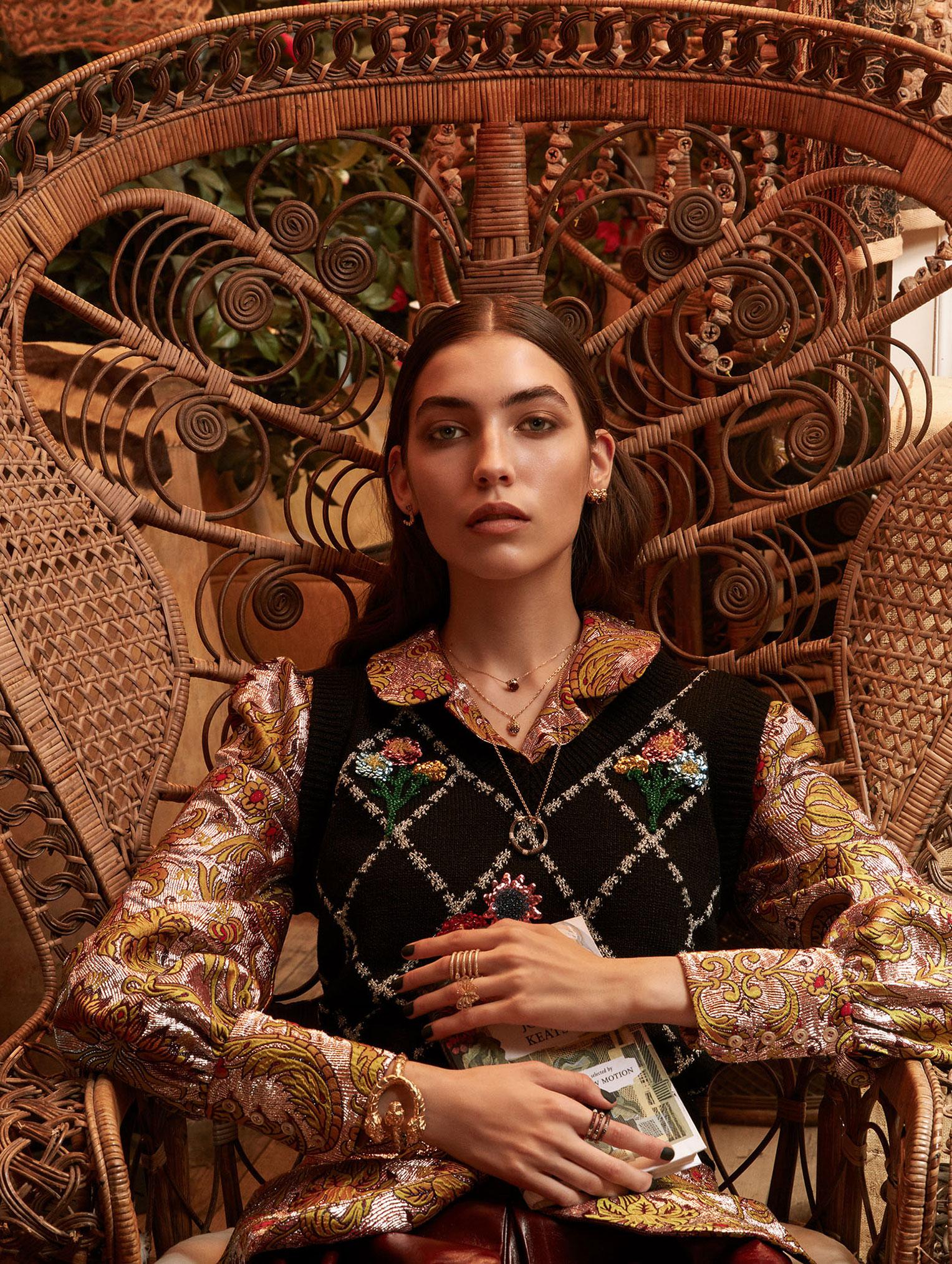 Елена Карьере в модной одежде Gucci, коллекция осень-зима 2019/20 / фото 04