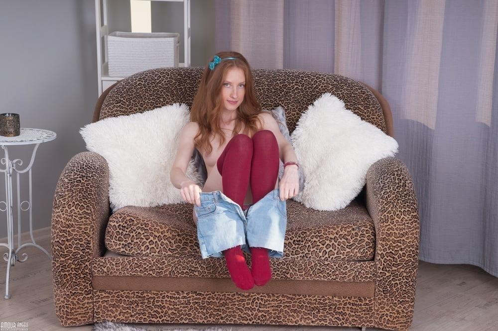 Skinny redhead teen anal-7128