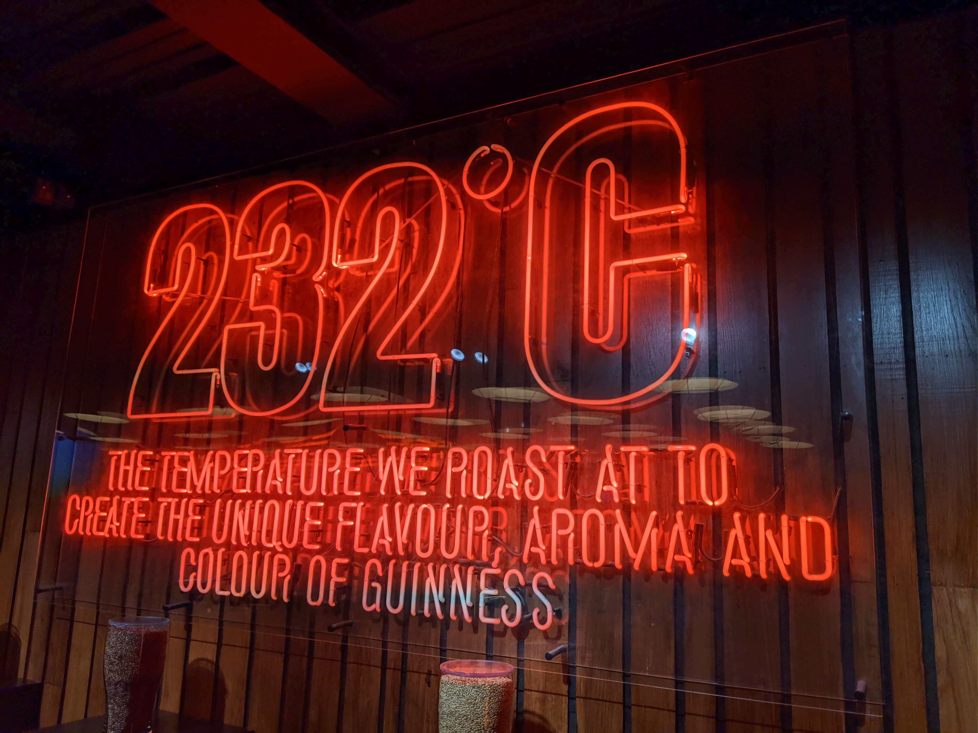 Roasting Temperature at Guinness