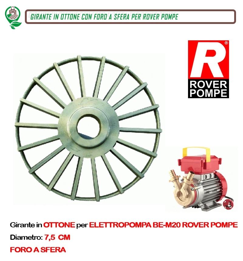 girante in ottone per elettropompa be-20 rover pompe pompa vino