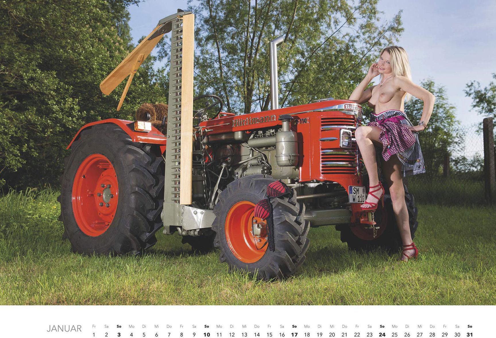 Эротический календарь -Мечты молодых фермеров 2021- / январь