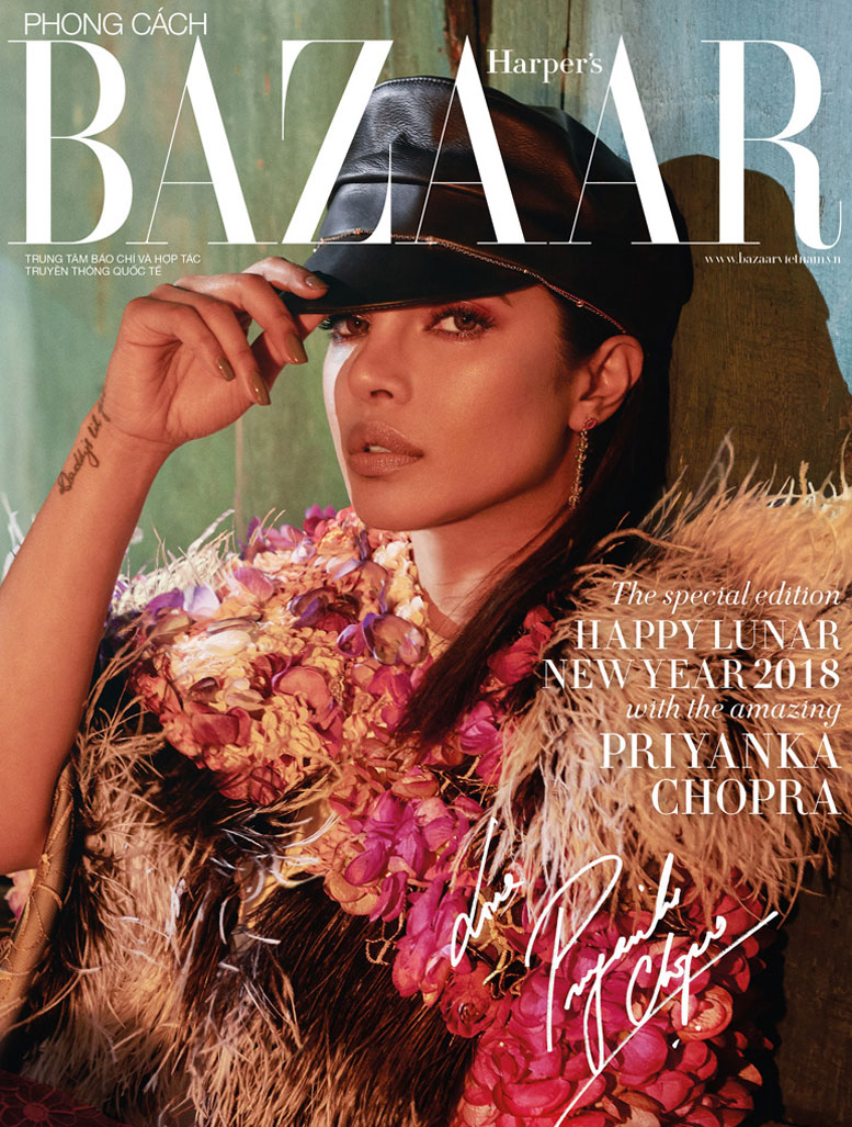 Priyanka Chopra by Greg Swales - Harpers Bazaar Vietnam march 2018