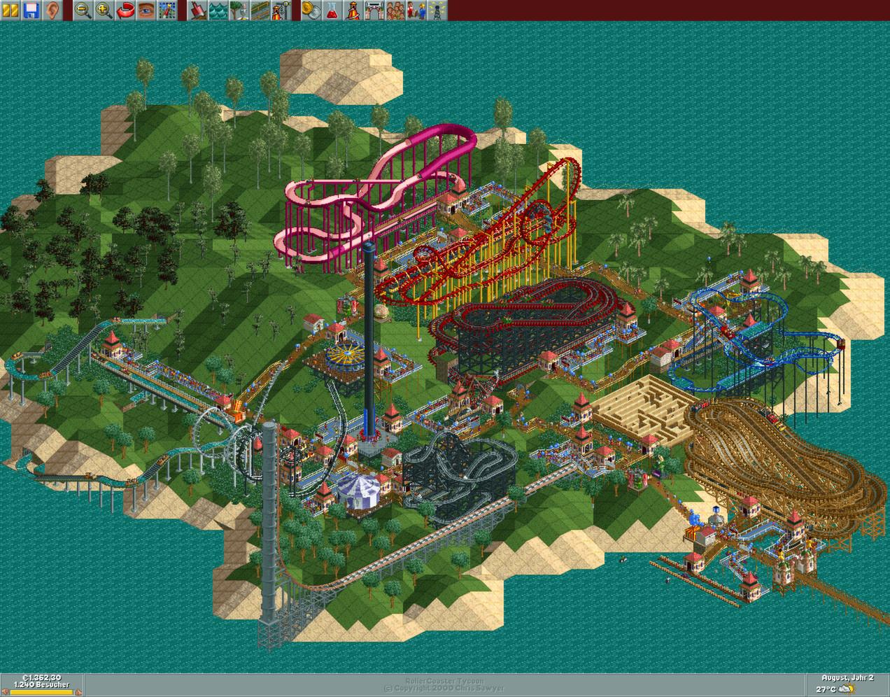 RollerCoaster Tycoon: Deluxe Captura 3
