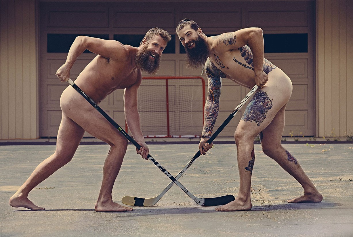 Joe Thornton and Brent Burns - ESPN The Body Issue 2017 / photo by Ramona Rosales