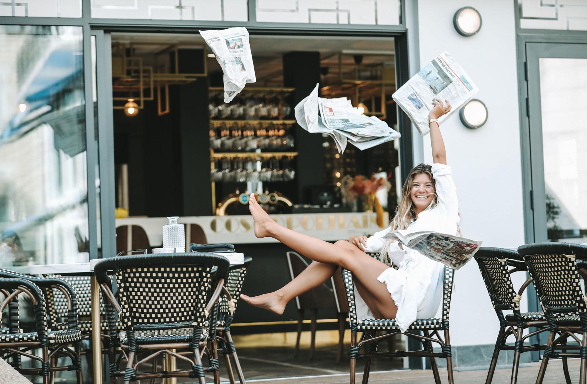 Ева Грейв в отеле Cosmopolitain в Биаррице / фото 12