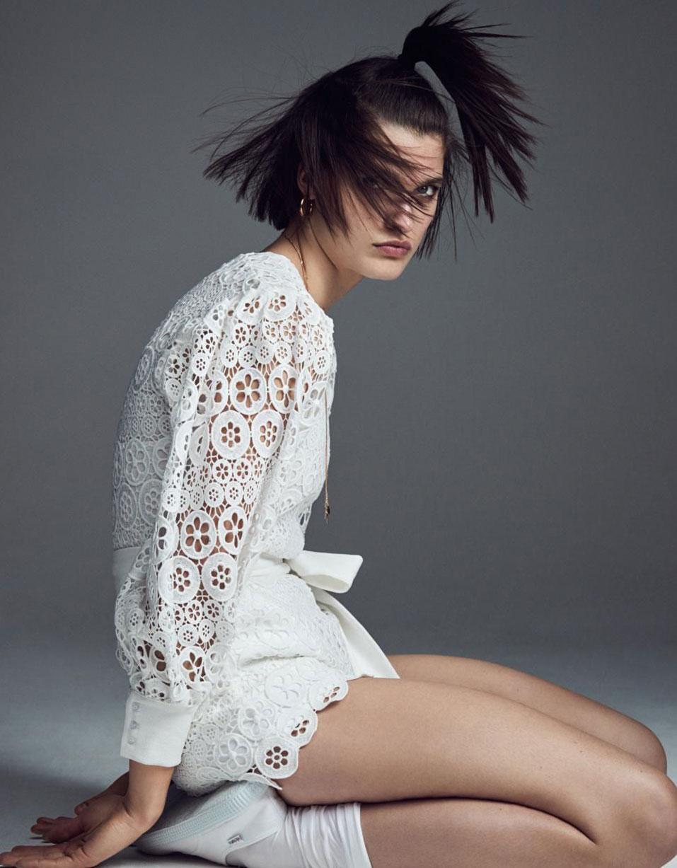 White Like Summer / Julia van Os by Nathaniel Goldberg / Vogue Paris April 2019
