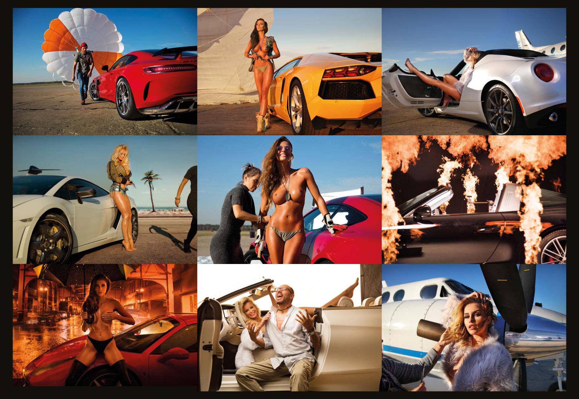 эротический календарь 2019 Inter Cars SA / польский дистрибьютор автомобилей, сопутствующих товаров и запчастей