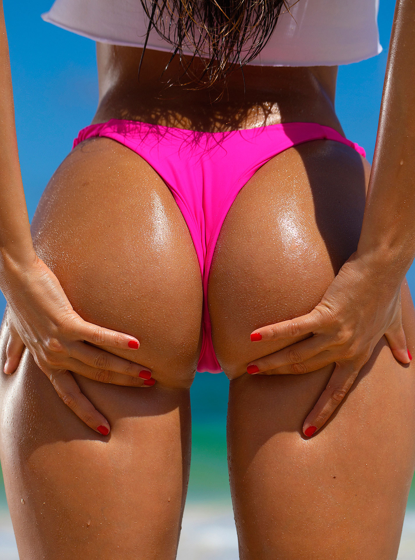 Голая пуэрториканка Присцилла Хаггинс на пляже Тулума / фото 10