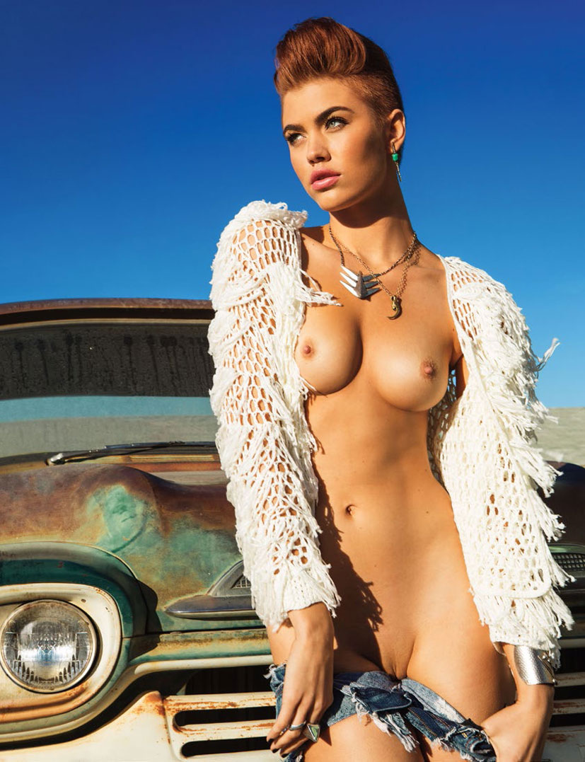 рыжие сексуальные красавицы в журнале Playboy - Britt Linn