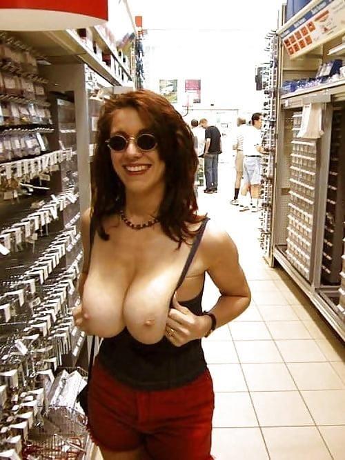 Boobs exposed in public-6554