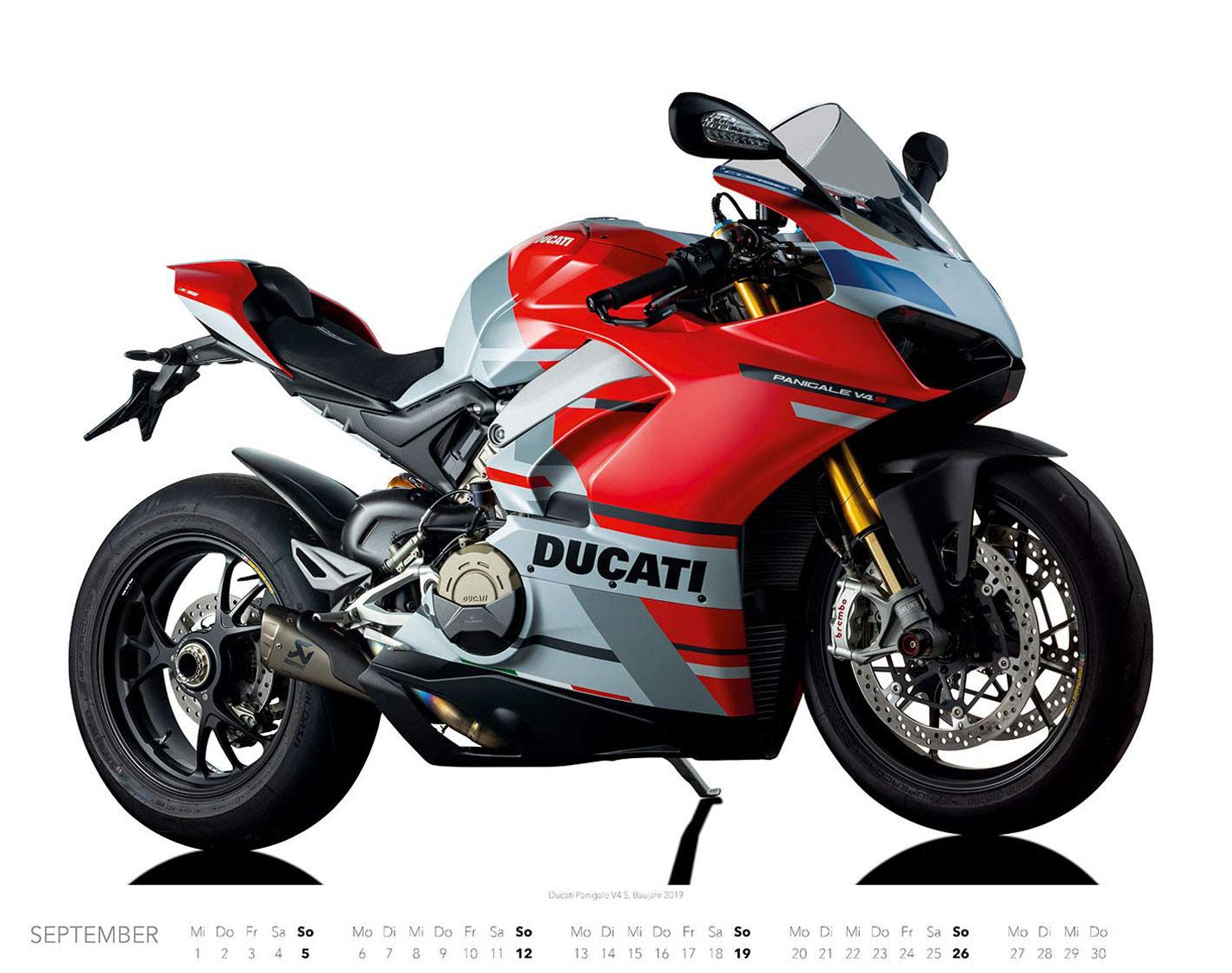Календарь с крутыми мотоциклами на 2021 год / сентябрь