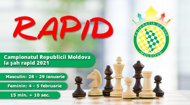 Campionatul Republicii Moldova la şah rapid 2021