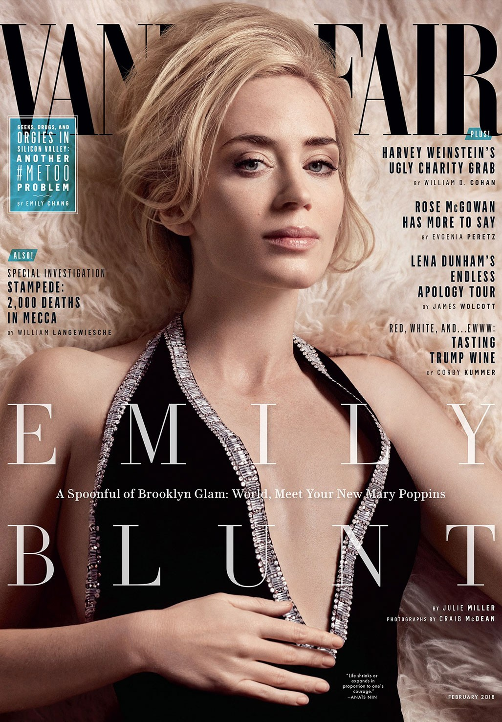 Мэри Поппинс возвращается - Эмили Блант / Emily Blunt by Craig McDean - Vanity Fair february 2018