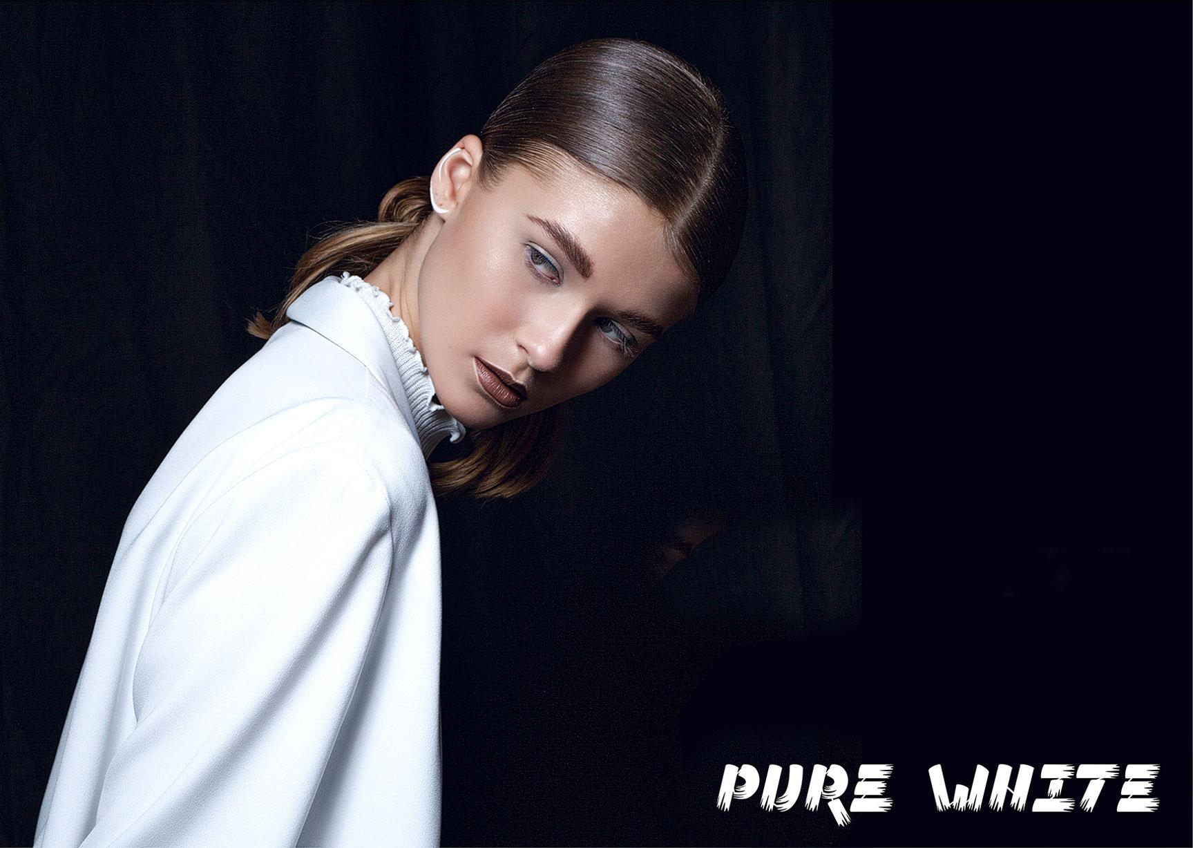 Pure white / Samantha Gietl by Veronica Formos / PolisArt Magazine may 2017