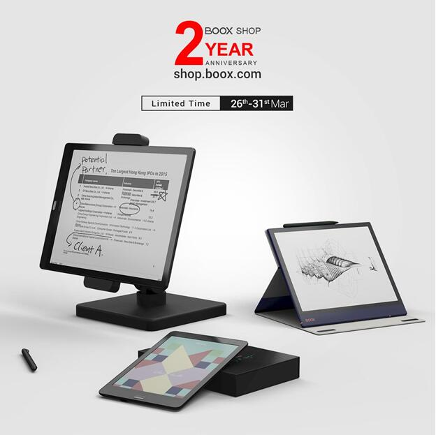 BOOX E Ink Tablets Get Discounts on BOOX Shop 2nd Anniversary