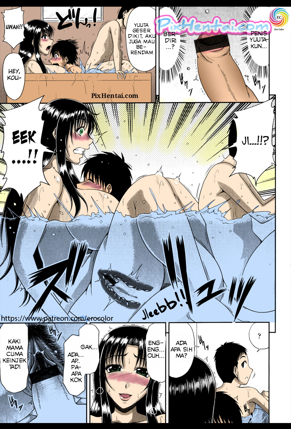 Komik Hentai Mandi dengan Ibunya Teman yang Bohai Manga Sex Porn Doujin XXX Bokep 04