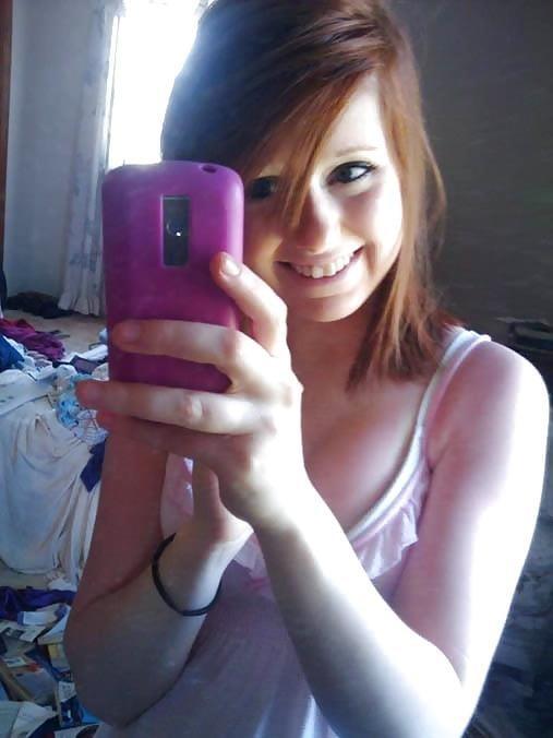 Ginger teen nude selfie-1179