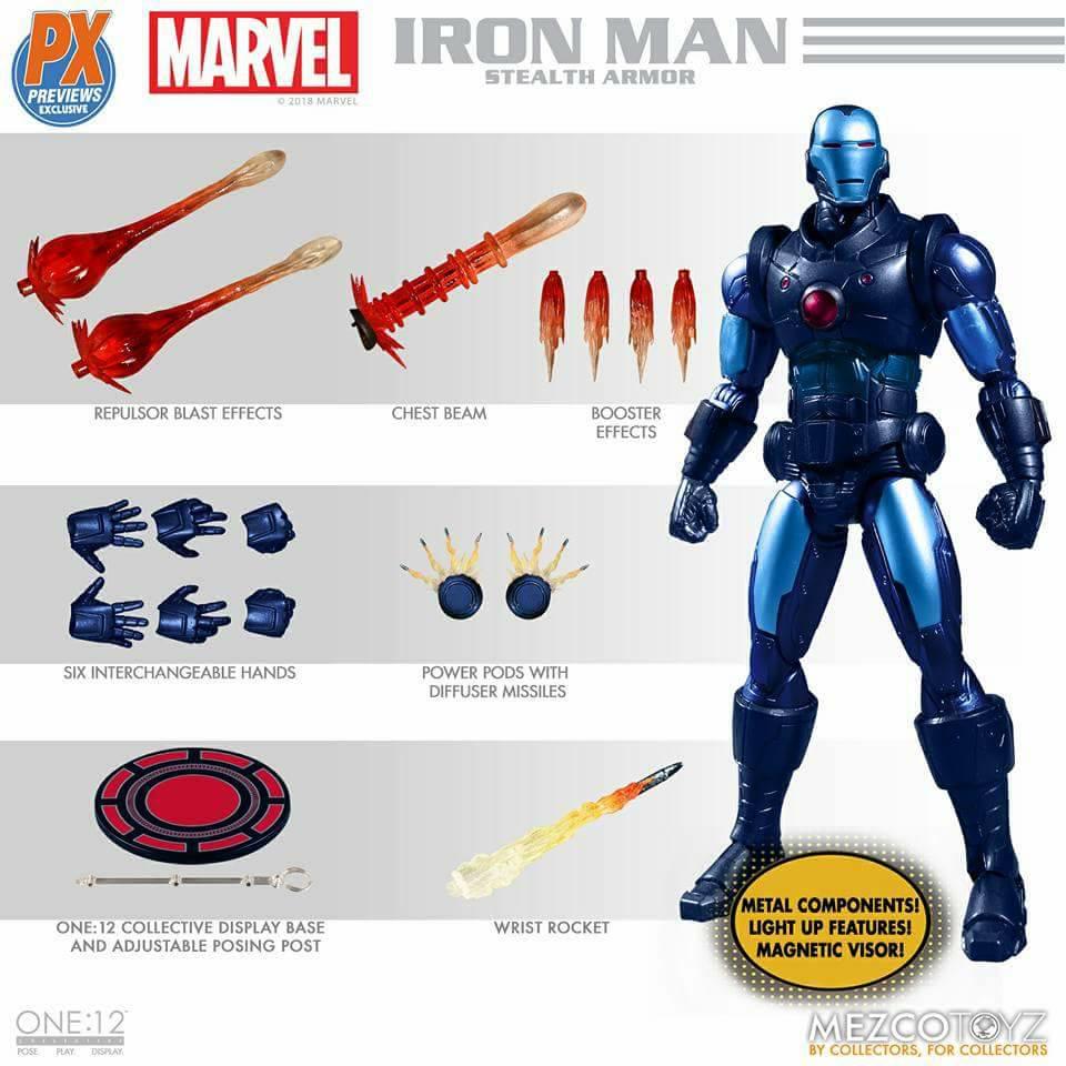 "Collective Iron Man Stealth Armor Figure - One 12"" (Mezco Toyz) BicGmDXD_o"