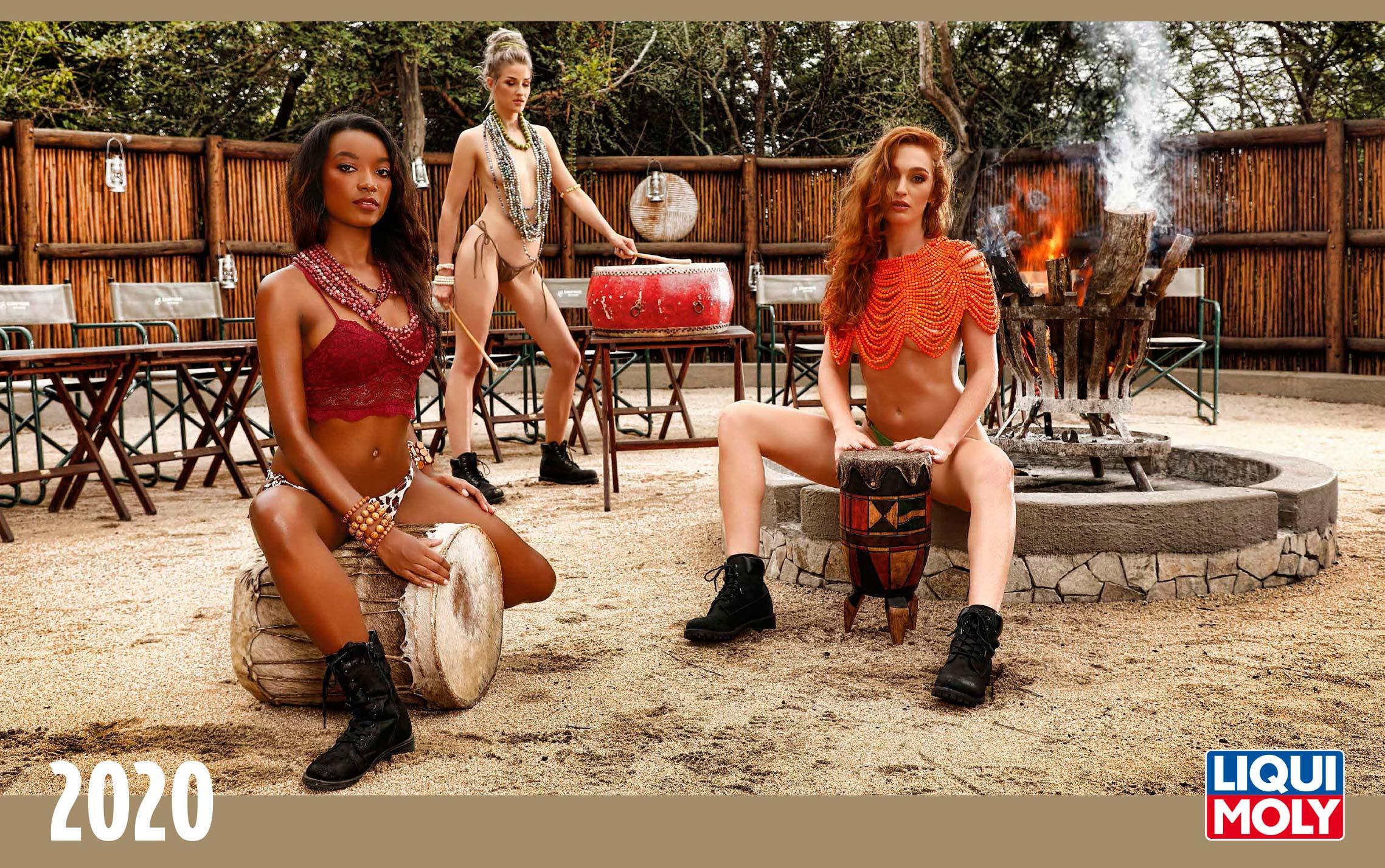Календарь с девушками автоконцерна Liqui Moly, 2020 год / обложка