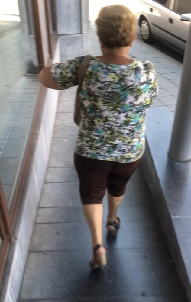 Granny feet in nylons-6883